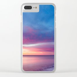 Pink Cotton Candy Sunset Clear iPhone Case