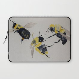 Water colour bees Laptop Sleeve