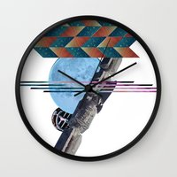 2001 a space odyssey Wall Clocks featuring 2001 a space odyssey by lina