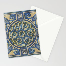 Flower of Life Mosaic Tile Ornament N1 Stationery Cards