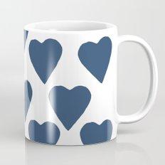 Hearts Navy Coffee Mug