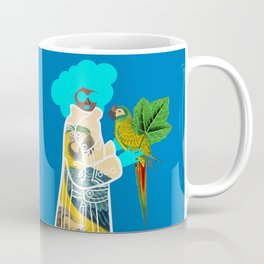 Bird Coat Blue Coffee Mug