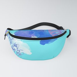 Botanical 3 - Exotic Floral Layered Abstract Art Fanny Pack