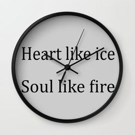 Heart Like Ice Wall Clock