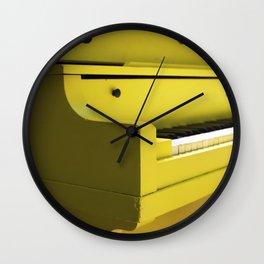 Mellow Yellow Etude Wall Clock