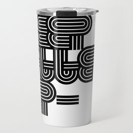 Eat Sleep Pattern Repeat Repeat Repeat Travel Mug