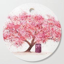 Tardis Tree Art Blossom Cutting Board