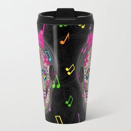 Sugar Skull Music Travel Mug