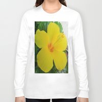 hibiscus Long Sleeve T-shirts featuring Hibiscus  by GT6673