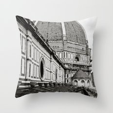 Il Duomo di Firenze Throw Pillow