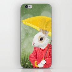 It's raining, little bunny! iPhone & iPod Skin