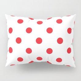 Polka dot fabric Retro vector background or pattern Pillow Sham