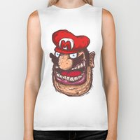 super mario Biker Tanks featuring Mario by Lime