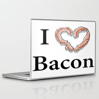 bacon Laptop & iPad Skins featuring I -bacon- Bacon by Beatrice