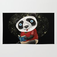 red panda Area & Throw Rugs featuring Panda by gunberk