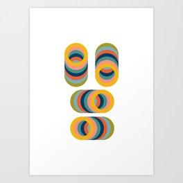 Rainbow Rings Art Print