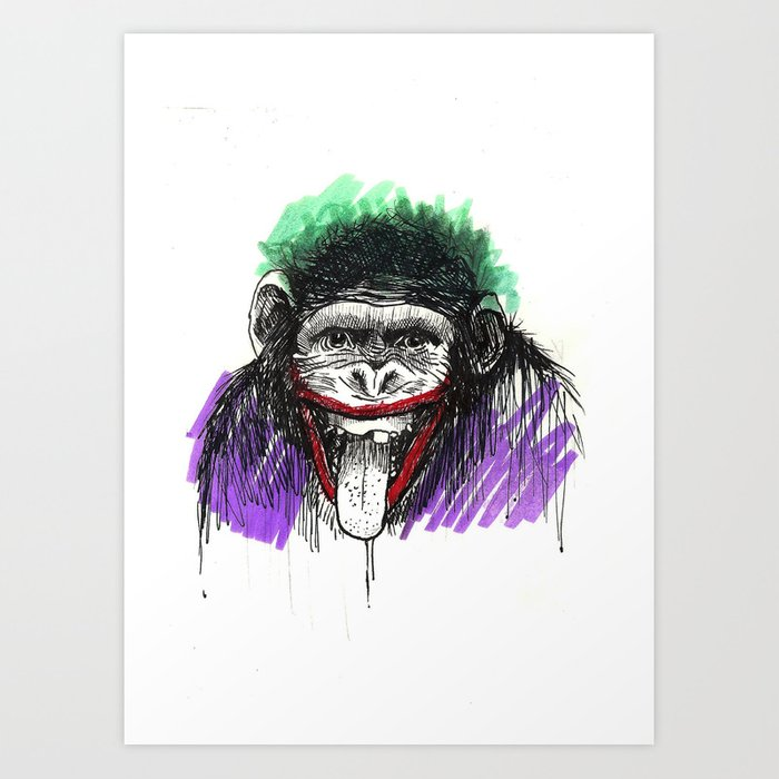 Why So Simian? Art Print