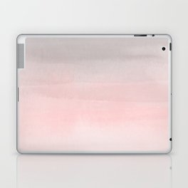 Blushing Pink & Grey Watercolor Laptop & iPad Skin