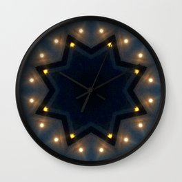 FULL MOON RISING STAR Wall Clock