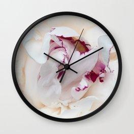 White Peony Wall Clock