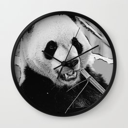 Panda Bear Munchies Wall Clock