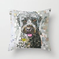 ginger Throw Pillows featuring Ginger by Maritza Hernandez
