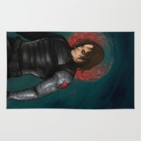winter soldier Area & Throw Rugs featuring Winter Soldier by toibi
