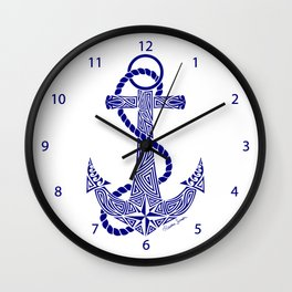 Tribal Anchor Wall Clock
