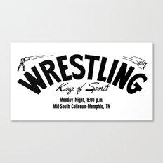 Wrestling Logo From Decades Ago Canvas Print