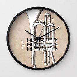 patent Conn Valve Musical Instrument 1901 Wall Clock