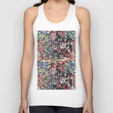 Love wall background Unisex Tank Top