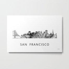 San Francisco, California, Skyline WB BW Metal Print