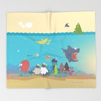 What's going on at the sea? Kids collection Throw Blanket