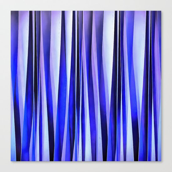 Peace and Harmony Blue Striped Abstract Pattern Canvas Print