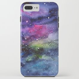 Galaxy Watercolor Night Sky Painting Nebula Art iPhone Case