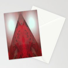 FX#412 - Red Pyramid Bright Stationery Cards