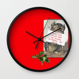 Best Christmas Wishes from the Beast Wall Clock