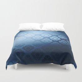 """""""Navy blue Damask Pattern"""" Duvet Cover"""