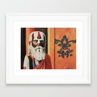 religious Framed Art Prints featuring Religious, Man by Ryan Villarma