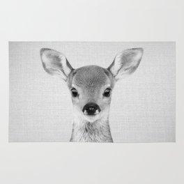 Baby Deer - Black & White Rug