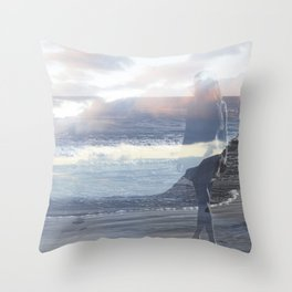 Into the Wave Throw Pillow
