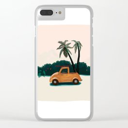 Buggy on the beach Clear iPhone Case