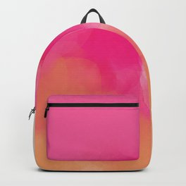 dreamy days in pink peach aquarell Backpack