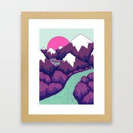 The lime green river Framed Art Print
