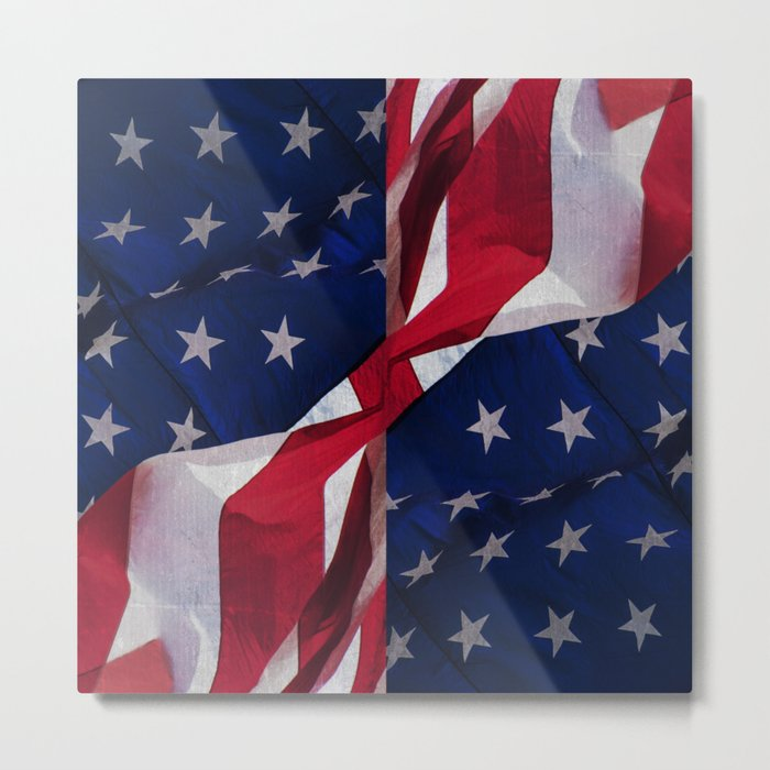 RED, WHITE AND BLUE Metal Print
