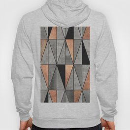 Concrete and Copper Triangles Hoody