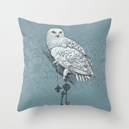 Secrets of the Snowy Owl Throw Pillow