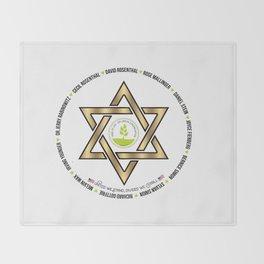 Tree Of Life Or L'Simcha Congregation Keep Sake  In Loving Memory Victim Names Victim Names Throw Blanket