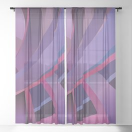 Purple Days Sheer Curtain