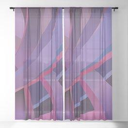 Purple Days Sheer Curtain